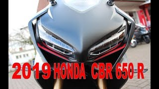 2019 Honda CBR 650 R SPORT walk around and soundcheck 4K
