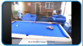 Blue Modern Glass Furniture