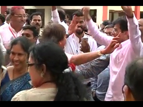 BMC Polls: Watch Kirit Somaiya dance to celebrate BJP's performance