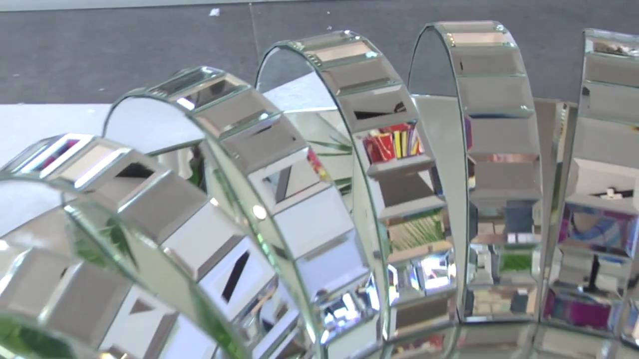 Okrągłe Lustro Dekoracyjne W Ramie Lustrzanej Arche