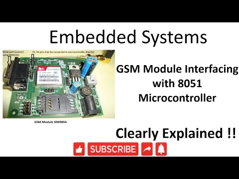 [ES-EN-30] GSM Module Interfacing with 8051 Microcontroller -lesson -30