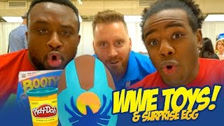 WWE Toys NEW DAY + a Play-Doh Surprise Egg with WWE Toys by KidCity