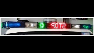 #12 Whelen LFL liberty, Whelen L32, Honac Modiforce ECU sirene politie dakset lightbar police 2009