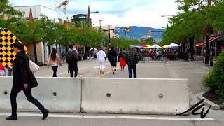 KELOWNA BC  Downtown  JULY 1, 2020  CANADA DAY - No Masks, No Social Distancing - Lot's of People