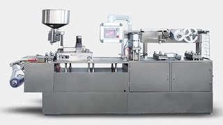 blister packing machine automatic chocolate gum candies cookies aluminum plastic forming packaging