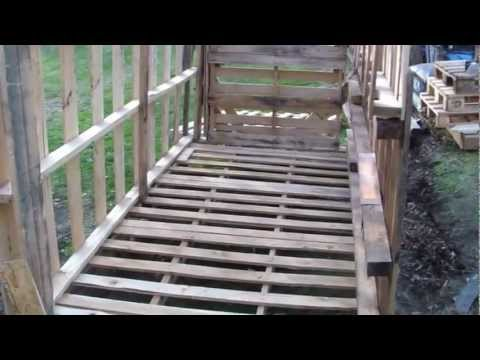 How To Build Free Or Cheap Shed From Pallets DIY Garage Storage Pt 3