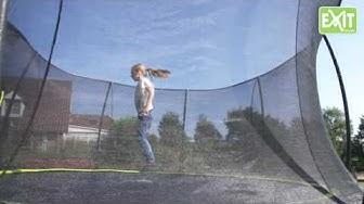 Trampoliini Exit Silhouette on edullinen ja tyylikäs valinta ensimmäiseksi trampoliiniksi