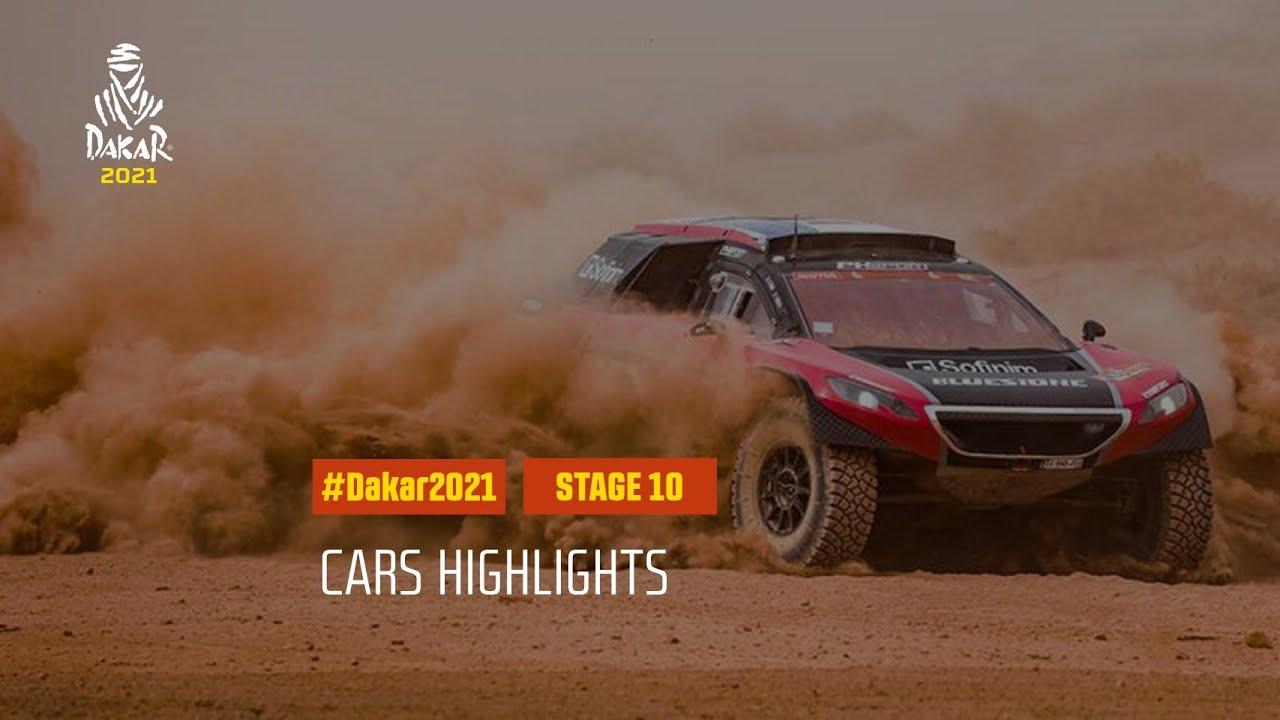 #DAKAR2021 - Stage 10 - Neom / AlUla - Car Highlights