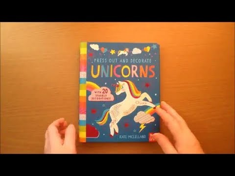 Press Out and Decorate Unicorns by Kate McLelland Colouring Book Flip through