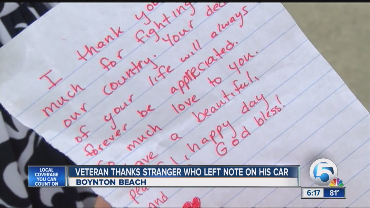 veteran thank you note