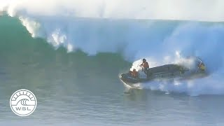 Funny Video: Safety Boat Surfs Wave To Escape Disaster