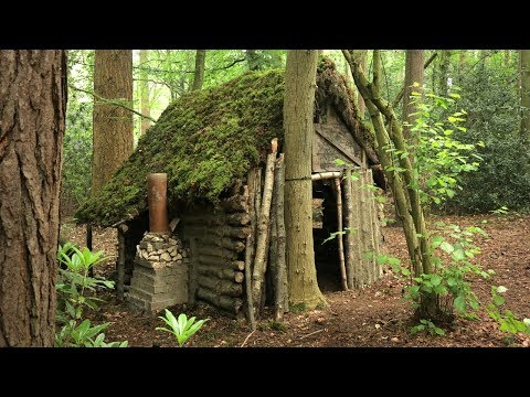 primitive-log-cabin-in-the-woods---moss-roof-(overnight-camp)