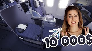 MON SIÈGE D'AVION À 10,000$ EN FIRST CLASS (BOEING 747 UNITED AIRLINES) | DENYZEE