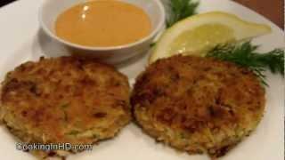 Panko-crusted Snow Crab Cakes