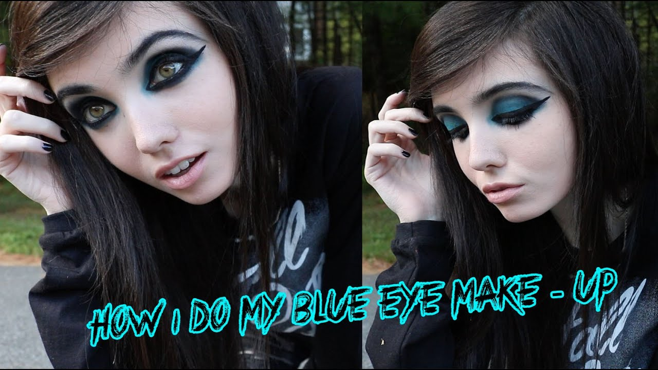 HOW I DO MY BLUE EYE MAKE UP