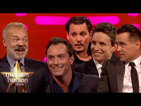 Johnny Depp, Eddie Redmayne, Jude Law & Colin Farrell from Fantastic Beasts 2 on Graham Norton