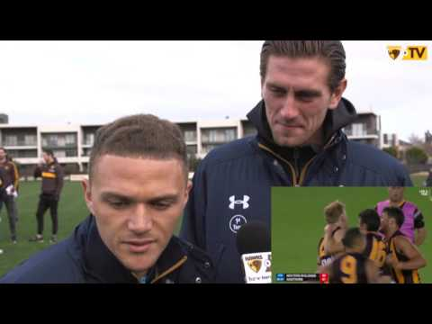 Tottenham Hotspurs players react to AFL