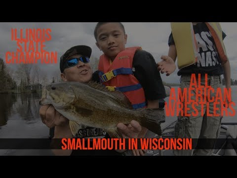 State Champion & All American Wrestlers Fishing for Smallmouth Bass #EastboundAndUpTour