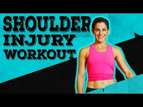SHOULDER INJURY WORKOUT | Exercise without hurting your injury
