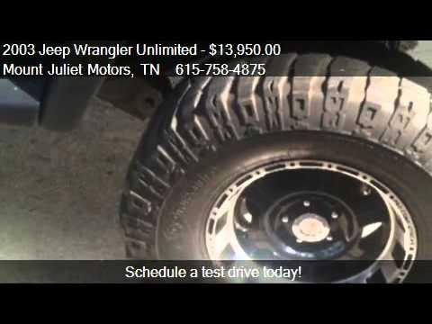 2003 Jeep Wrangler Unlimited Se For Sale In Mount Juliet