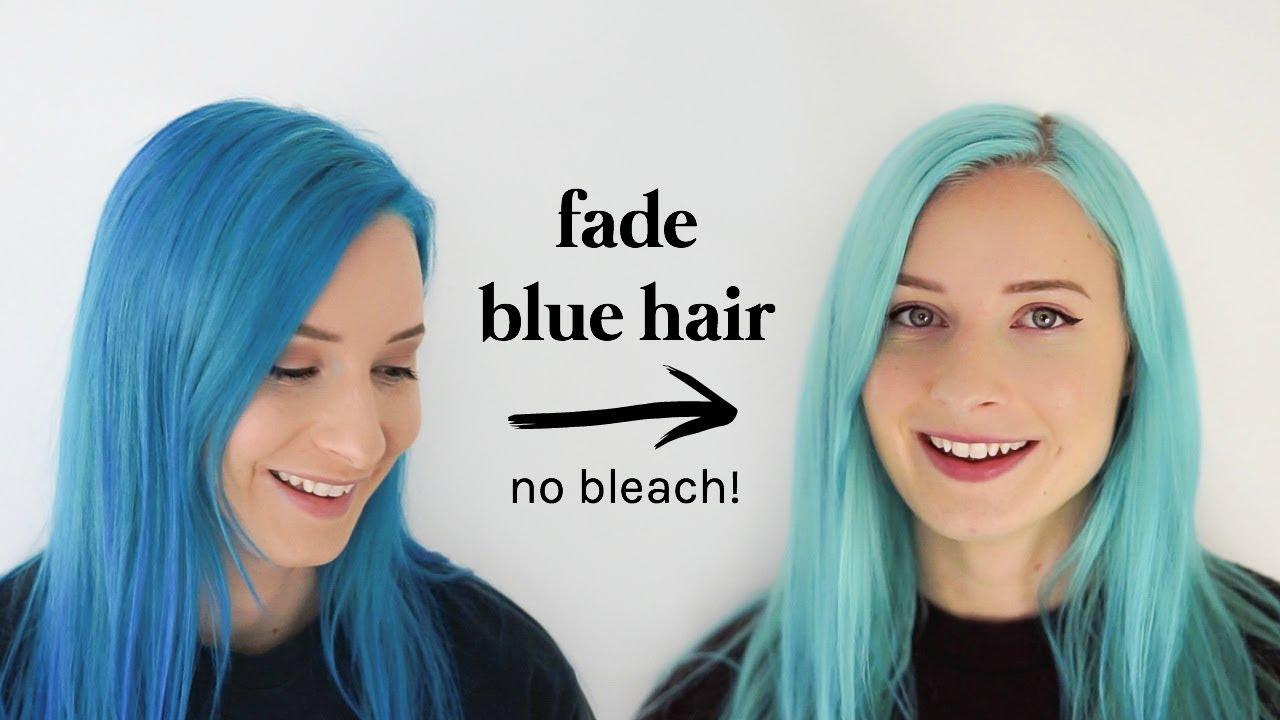 How To Fade Blue Hair Dye or Lighten Semi-Permanent Dye ...