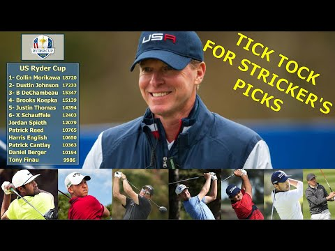Ryder Cup Getting Tight: Steve Stricker's On The Clock-Team USA Coming Together