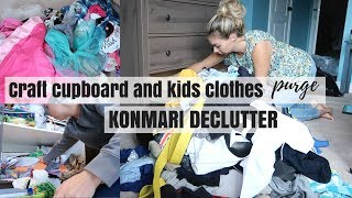 KONMARI METHOD DECLUTTER   CRAFT CUPBOARD AND KIDS CLOTHES PURGE   Nesting Story