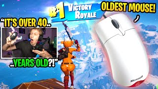 I found a 40 YEAR OLD Mouse for Fortnite and it TURNED me into THIS... (oldest mouse ever)