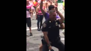 Hot cop dancing at NYC pride 2015