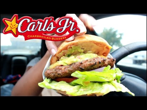 MUKBANG: CARL'S JR 1/2 LB GUACAMOLE BACON BURGER! EAT WITH ME! YUMMYBITESTV