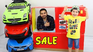 Yusuf and Uncle play Rant a Car Toys