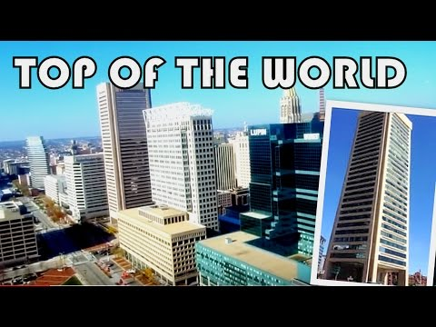 VIEW of BALTIMORE'S SKYLINE, Harbor & More || TOP OF THE WORLD OBSERVATION LEVEL
