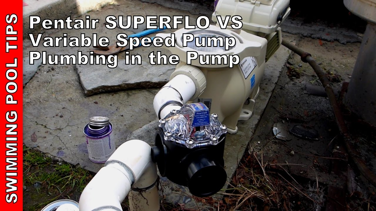 small resolution of how to install a pentair superflo vs pump plumbing in the pump