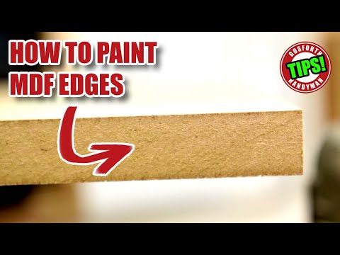 How to Paint MDF Edges - Explained in 2 minutes!