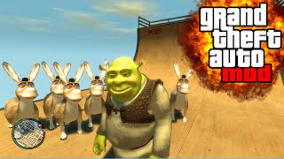 """SHREK & DONKEY FIRST PERSON!"" GTA Mod & Funny Gameplay (GTA IV Mods)"