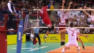 Beautiful volleyball attack by Earvin Ngapeth!