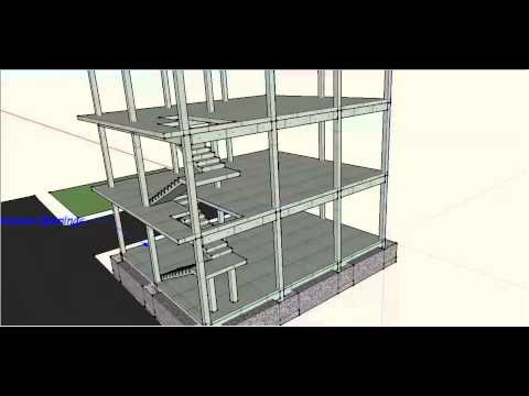 New Building G+2 Project - 3D Animation - SketchUp