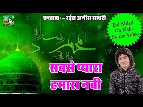 Eid Milad Un Nabi Status Video - Sabse Pyara Hamara Nabi - Anis Sabri - Sonic Islamic