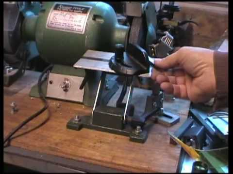 Lathe tool sharpening made easy - YouTube