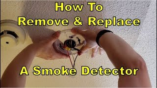 How To Remove & Replace a Smoke Detector DIY! Kidde i4618