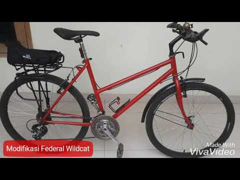 Wow Modif Sepeda Federal Wildcat First Generation Legend Youtube