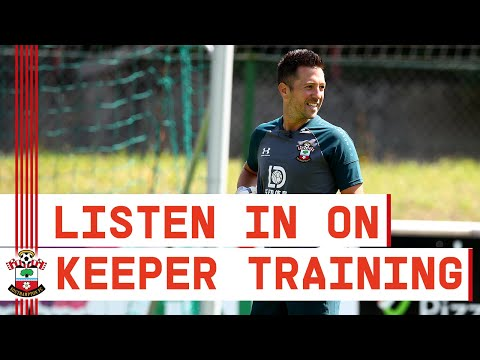 ON THE MIC | Behind the Scenes of a Southampton goalkeeper training session!