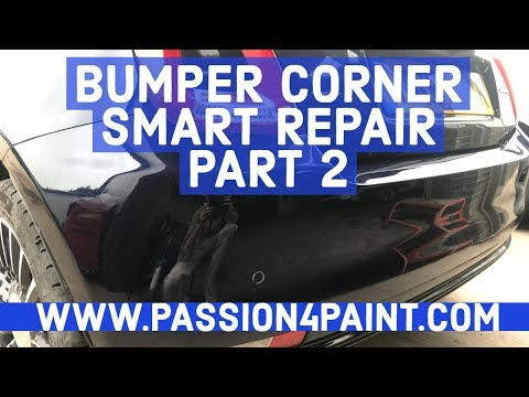 How To Do A Bumper Corner Smart Repair PART 2 INCLUDING HOW TO POLISH A CLEARCOAT BLEND