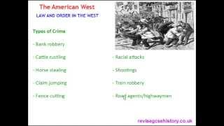 American West - Law and Order in the West - Forces of Law and Order
