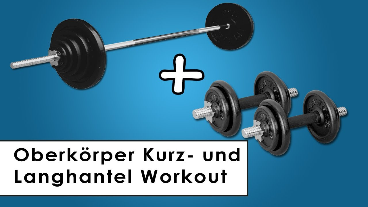 kurz und langhantel trainingsplan workout f r zu hause. Black Bedroom Furniture Sets. Home Design Ideas
