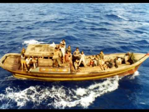 Boat-refugee from South Vietnam 1978 saved by the Norwegian Vikings