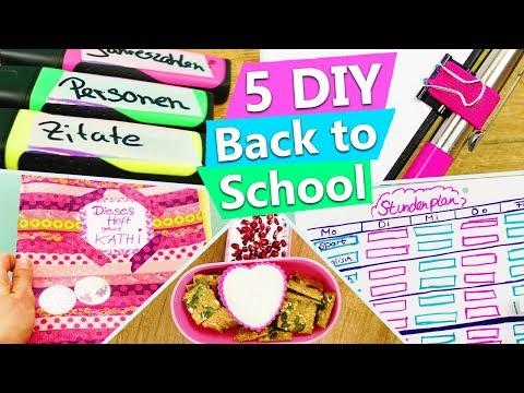 5 Ideen für die Schule   DIY Back to school   Heft gestalten, gesunde Snacks, Organisation, Supplies