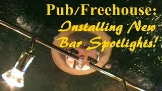 P1/2. (night Time Pub Diy) Bar Lights - New Spotlights & Rambling About My Linux Kiosk Software.