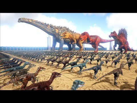 2000 Troodons VS ARK Dinosaurs | Cantex