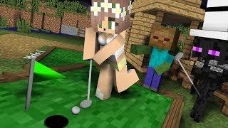 Monster School: Golf Challenge - Minecraft Animation